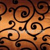 flocking taffeta swirl brown